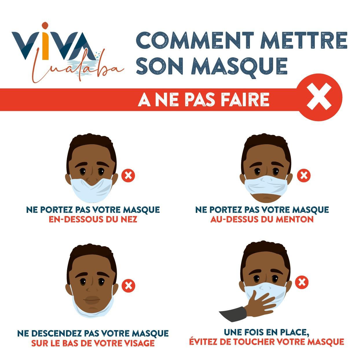 Ce qu'il ne faut pas faire lorsque l'on porte un masque de protection contre le Covid-19